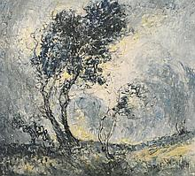 Wingen, Johann Laurens Hubert Gottfried (1874-1956) Allemagne/Germany - Windblown trees