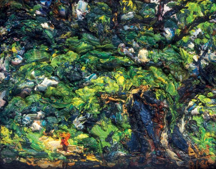 Woman Passing under the Tree