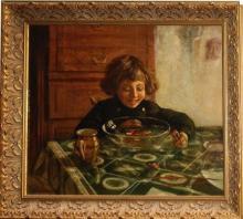 Nikolai Petrovich Bogdanov-Bielski Oil On Canvas