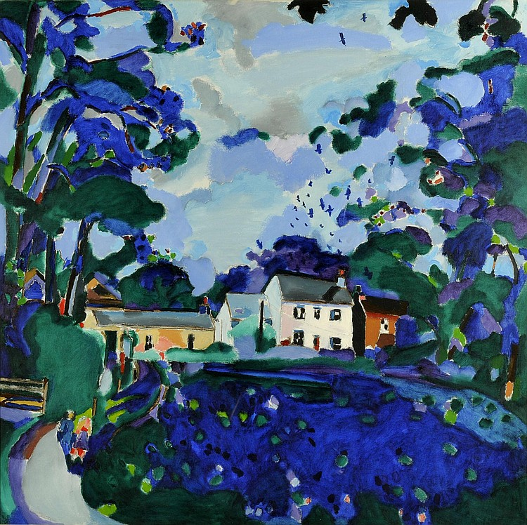 PHILIP SUTTON, RA (b.1928) MANORBIER CASTLE, 1988