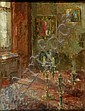 SIR EDMUND FAIRFAX-LUCY, Bt. (b.1945) INTERIOR, Edmund Fairfax-Lucy, Click for value