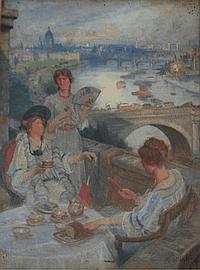 CHARLES WILLIAM WYLLIE (1853-1923) TEA ON THE