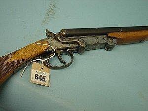 A DOUBLE BARREL .410 EIBAR HAMMER SHOTGUN Parkemy Model No 56663, folding action, with 27.75in (70.5cm) barrels. Sac/Rfd Rqd