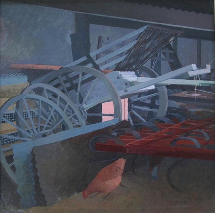 KEITH DUNKLEY, RWS (b.1942) THE IMPLEMENT SHED