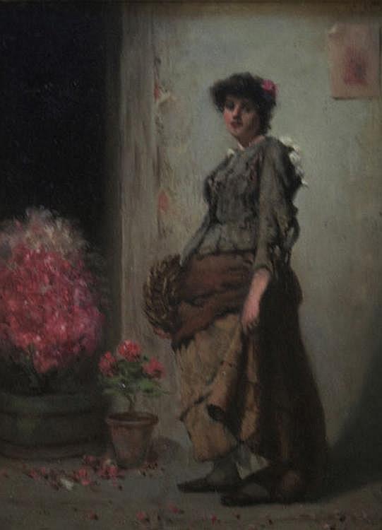 A** D** BASTIN (Fl.1871-1900) A FLOWER GIRL Bears