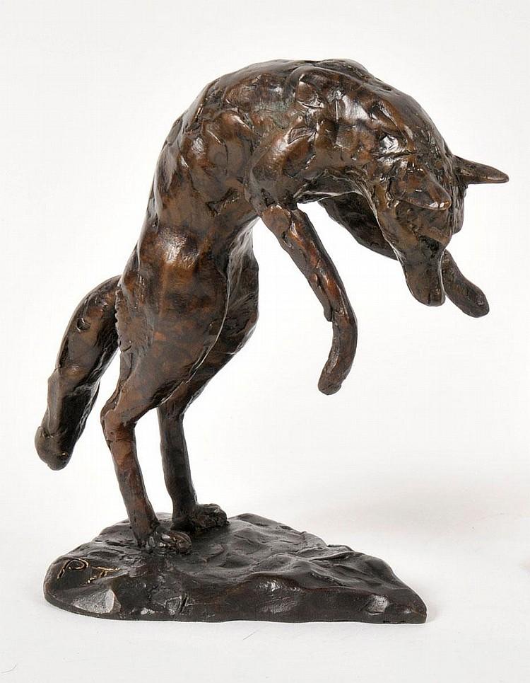 PAUL JENKINS (Sculptor b. 1949) A BRONZE FIGURE