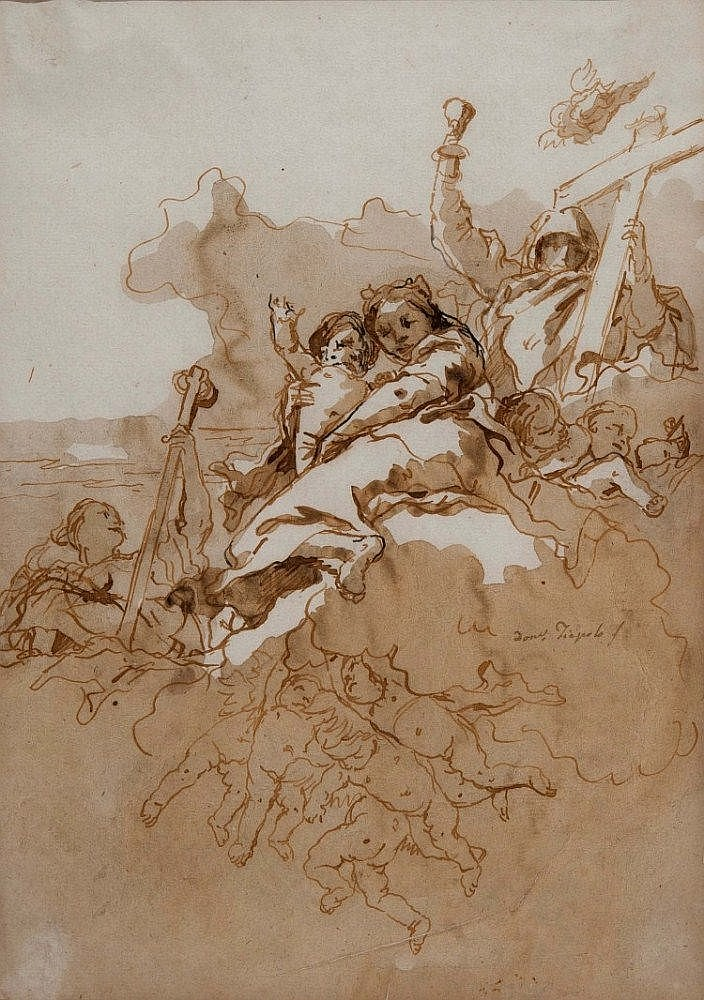 GIOVANNI DOMENICO TIEPOLO (1727-1804) FAITH, HOPE