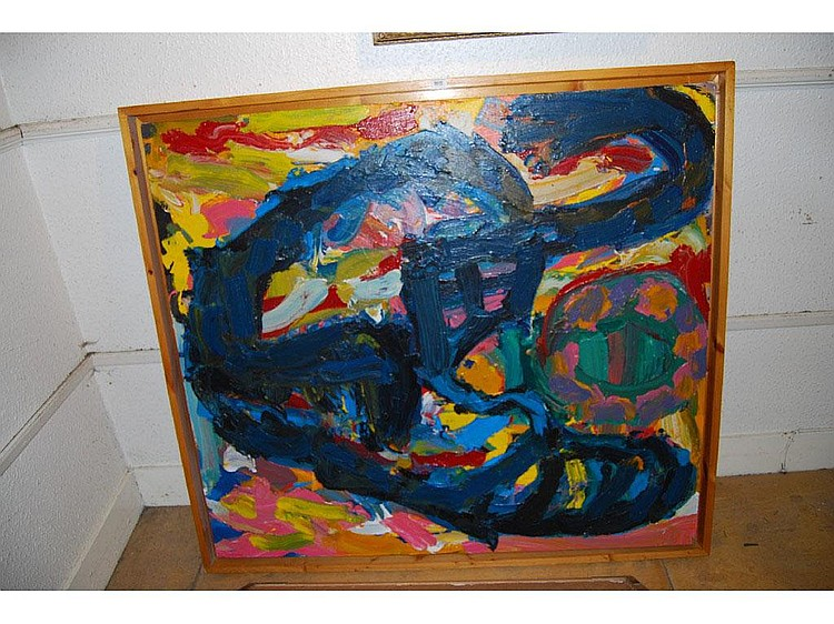 Michael Horsley, large modern oil painting on