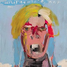 ANTHONY BENNETT born 1966 warhol bowie 1999mixed