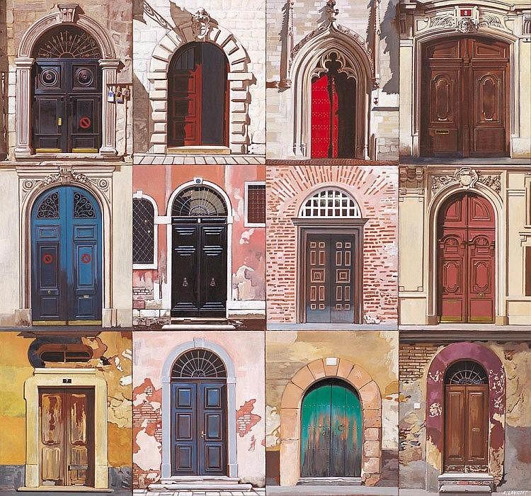 ALEXANDER LAVROFF born 1940 Doors oil on canvas on