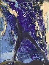 EUAN MACLEOD born 1956 Walking Against Blue