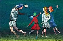 CHARLES BLACKMAN born 1928 Children Playing