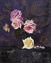 ARTHUR STREETON (1867-1943) Roses c1931oil on