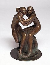 LENORE BOYD born 1953 Brothers bronze signed: