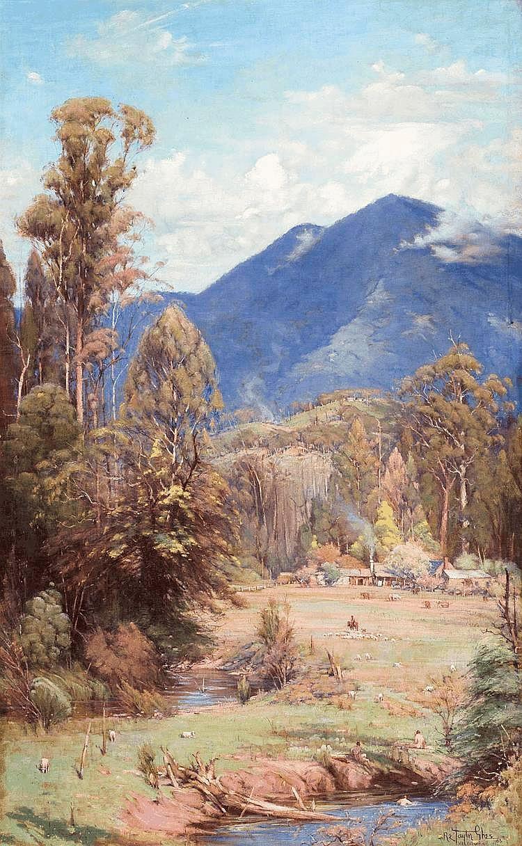 R.E. TAYLOR GHEE, (1872-1951), Pastoral Idyll, oil