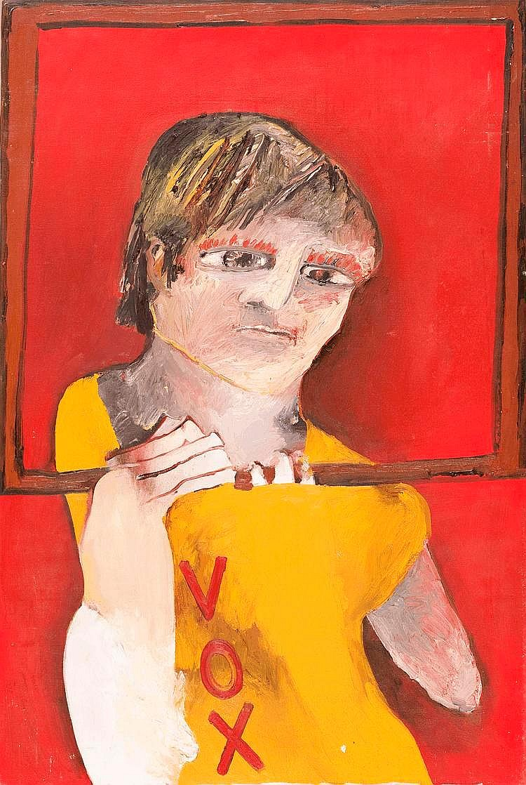 ANNE HALL, born 1945, Boy with Frame in Vox