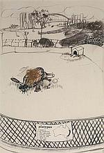 BRETT WHITELEY (1939-1992) Platypus 1978 pen,