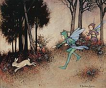 ETHEL JACKSON MORRIS (1891-1985) Chasing a Rabbit