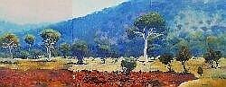 [ Art Work/Painting ] Shane Pickett (working c.1986) - Untitled 1987 Central Australian Landscape)