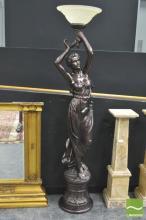 Large Figural Standard Lamp