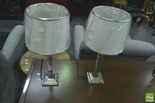 Pair of Brass Reproduction Table Lamps (5544)