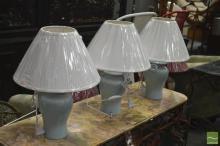 Set of Three Italian Ginger Jar Style Lamps (2550bl)