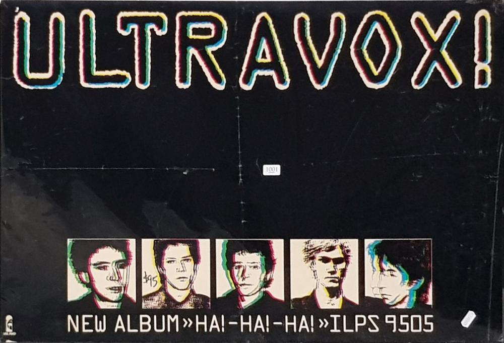 Vintage Ultravox Band Poster