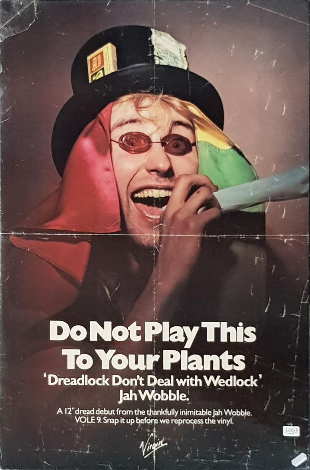 Vintage 'DO NOT PLAY THIS TO YOUR PLANTS' Poster