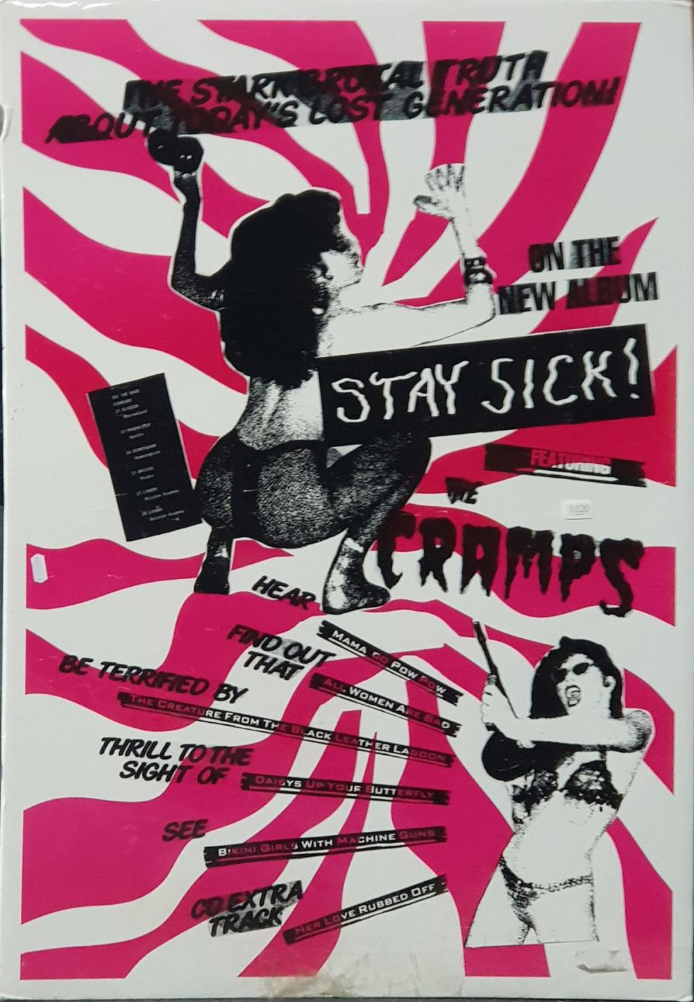 Vintage STAY SICK Band Poster
