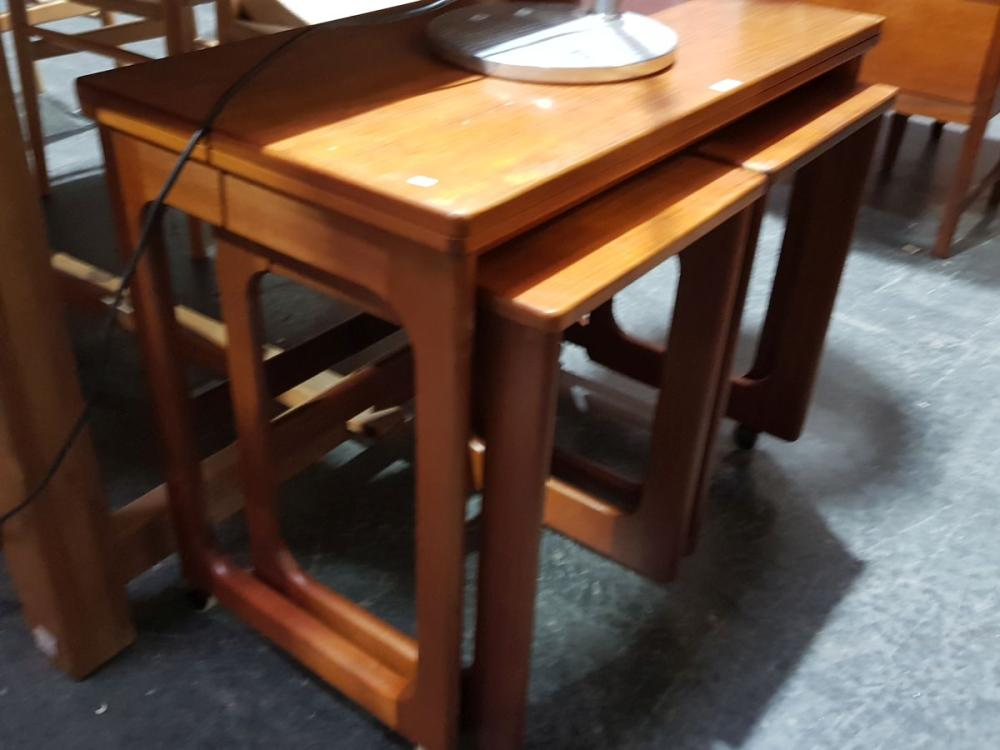 McIntosh Nest of Tables with Fold Over Top