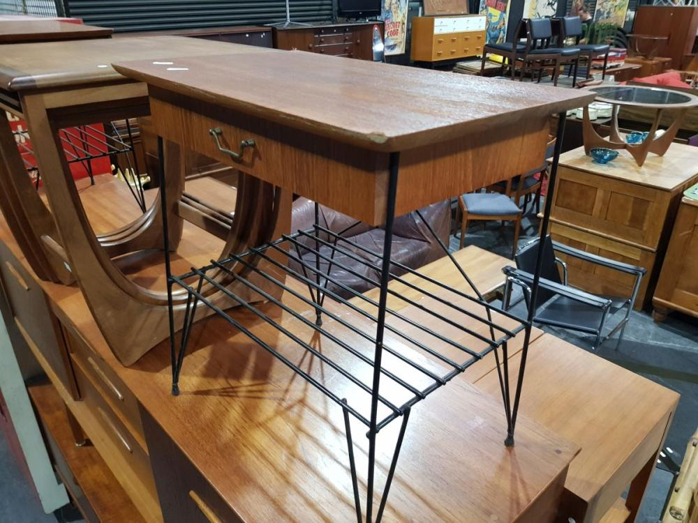 Pair of Vintage Side Tables with Single Drawer