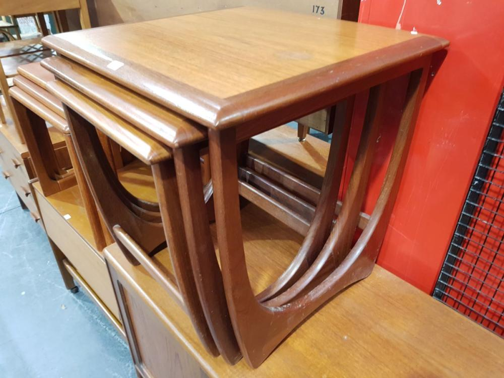 Vintage Parker Coffee Table with Rattan Shelf Below