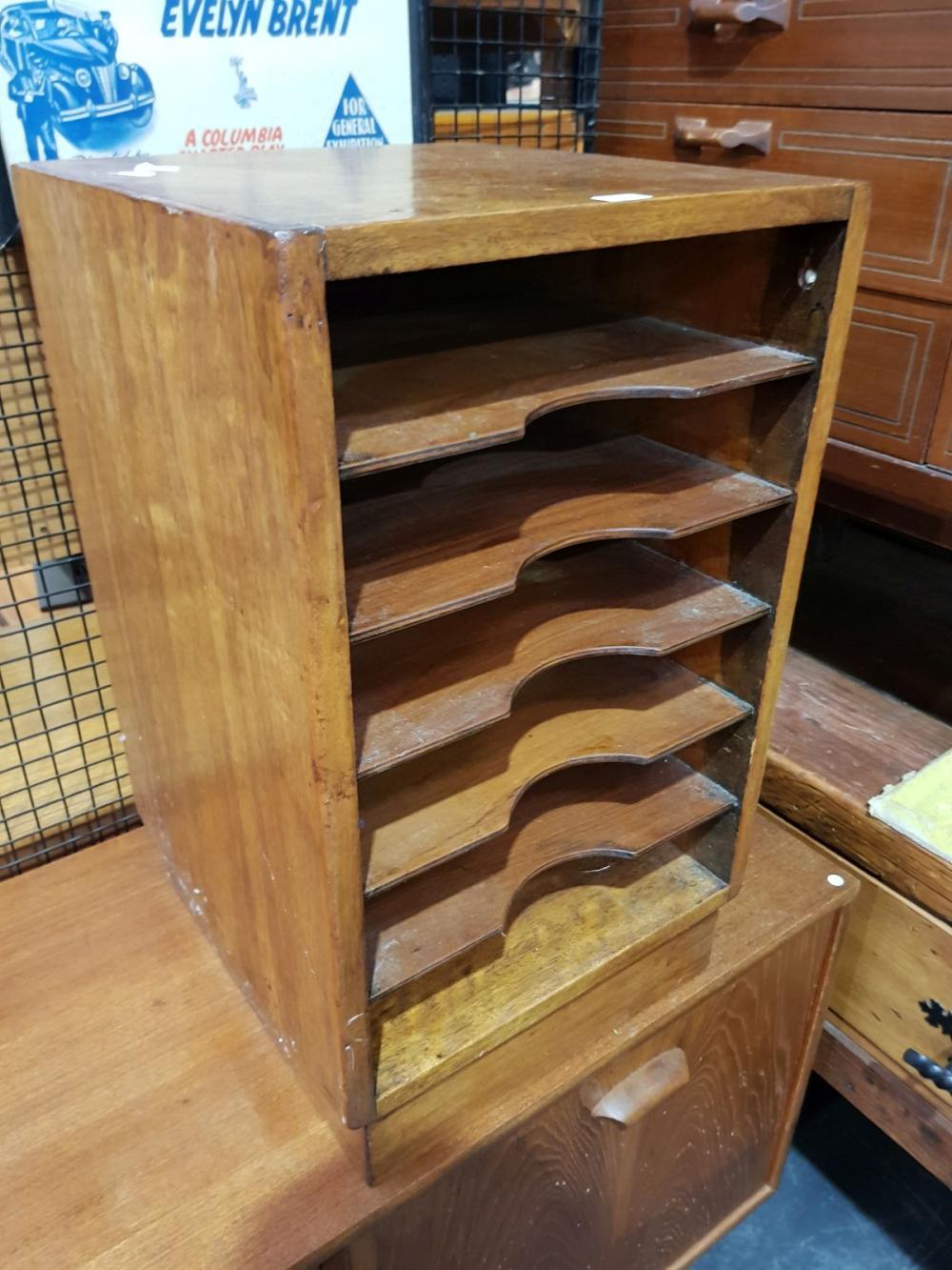 Vintage Multi Tier Desk Top Filing Cabinet ( H 60cm x D 37cm x W 35cm)