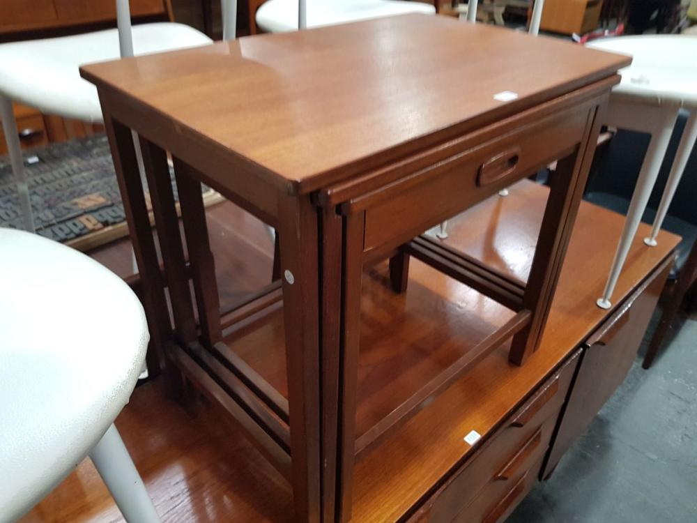 G Plan Teak Nest of Tables with Drawer