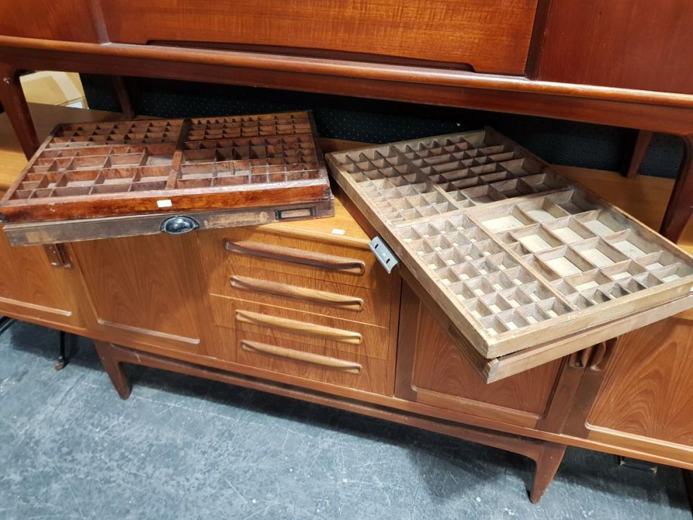 Collection of 4 Vintage Printers Drawers