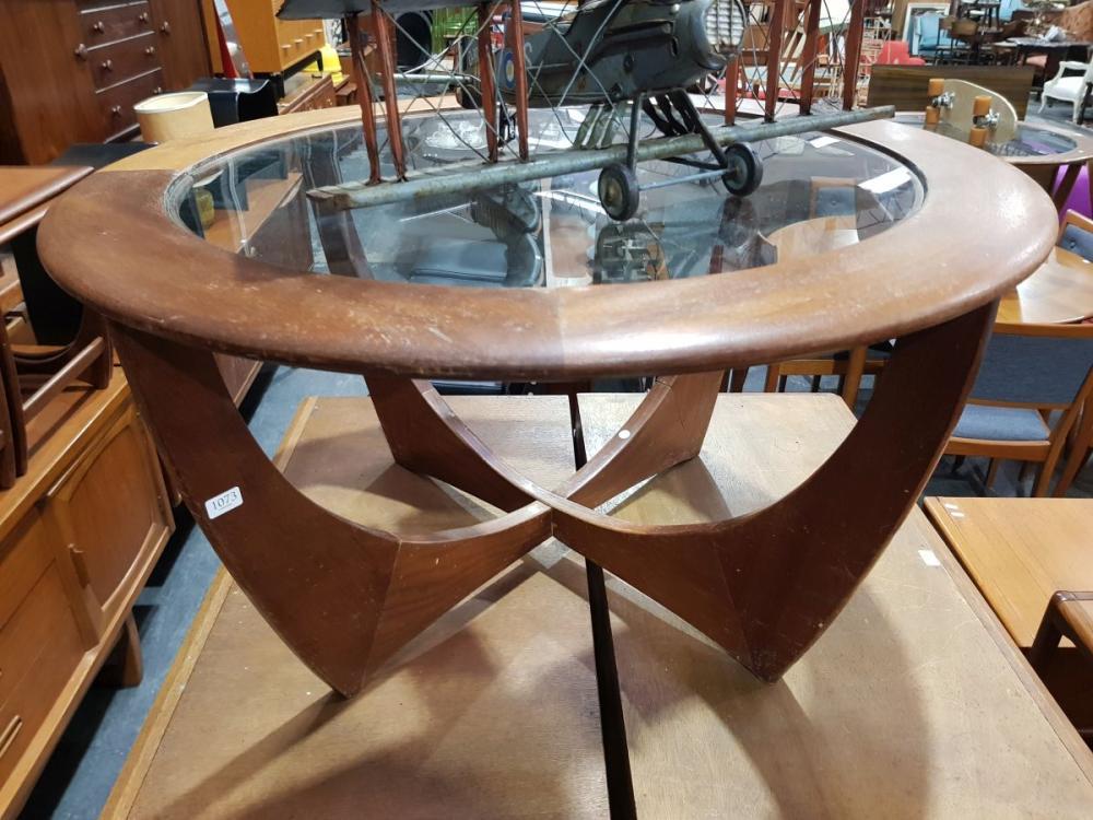 G Plan Atmos Circular Coffee Table with Glass Top