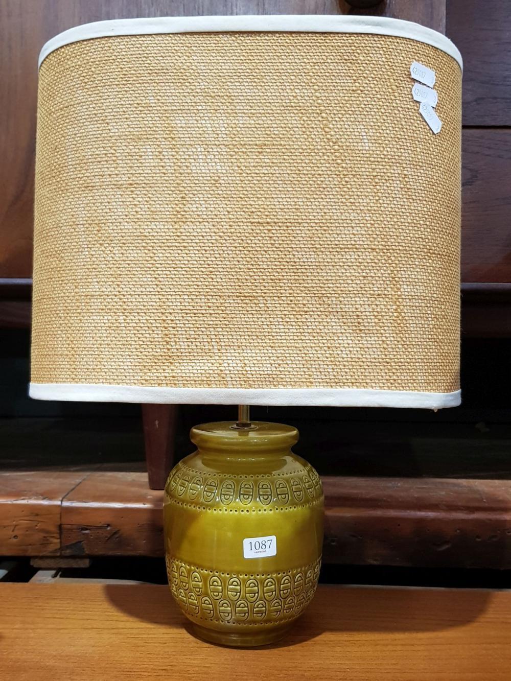 Mustard Ceramic Bitossi Table Lamp