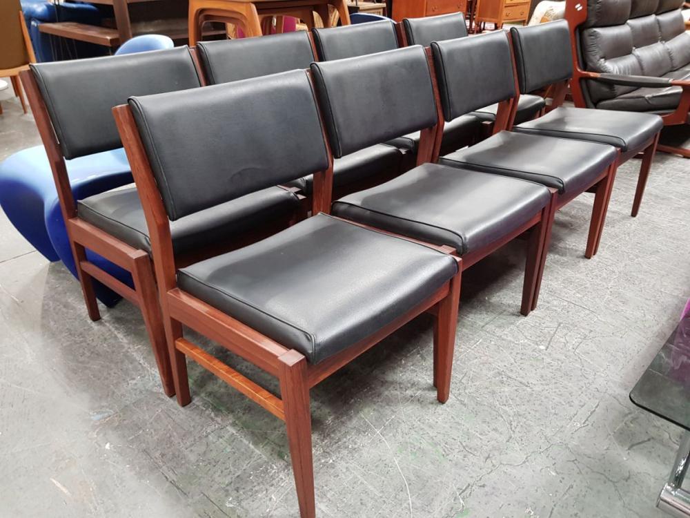 Good Set of 8 Paul Kafka Dining Chairs stamped REG-140 No- 5398