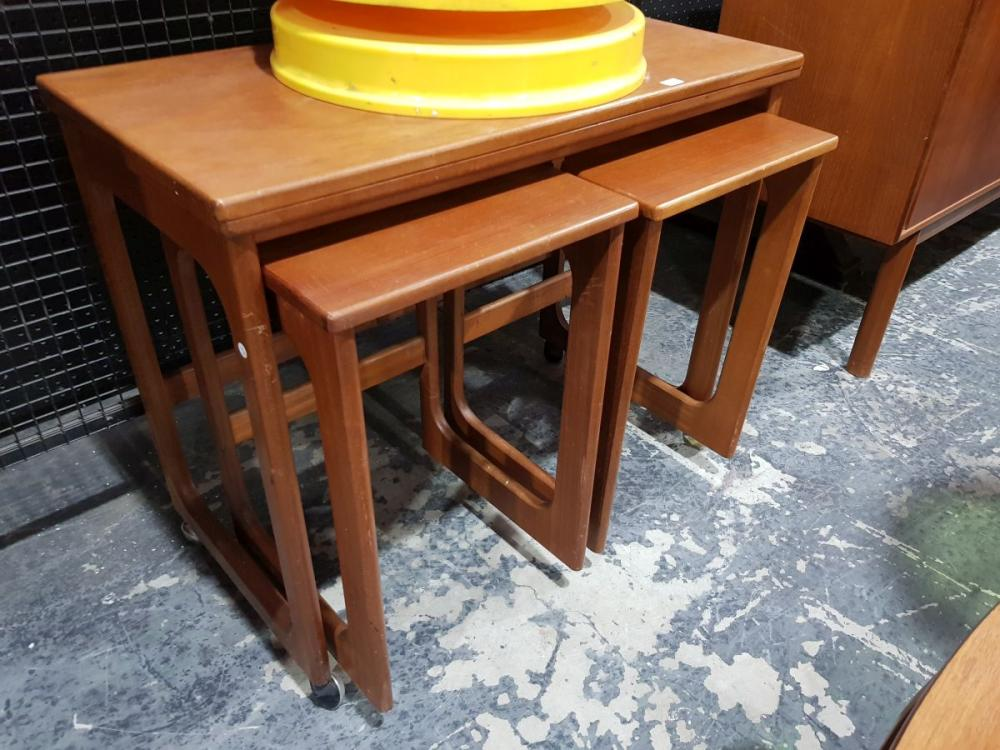 McIntosh Teak Nest of Tables with fold over top