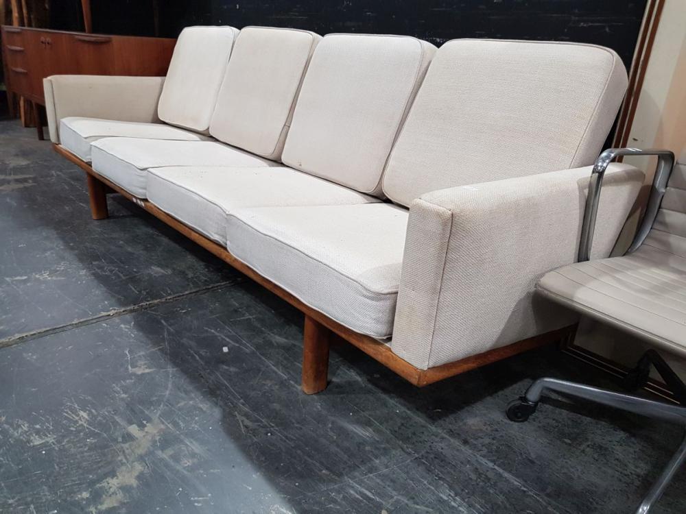 Teak Framed 4 Seater Lounge