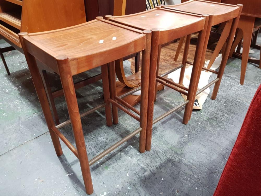 Set of 3 Vintage Parker Bar Stools