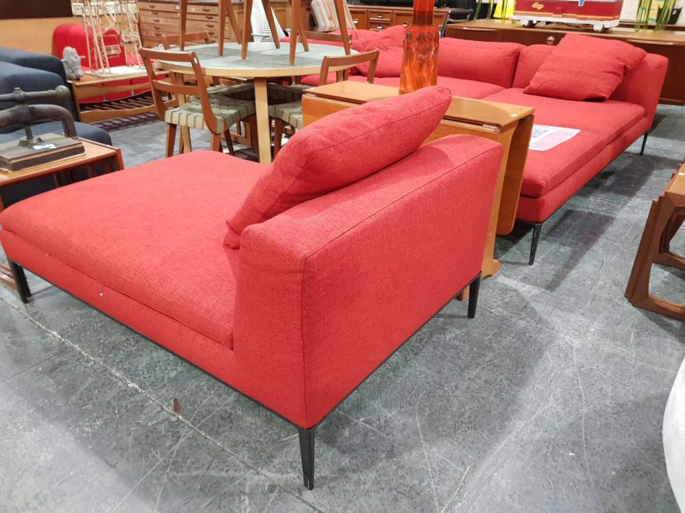 B&B Italia Red Upholstered Lounge Suite