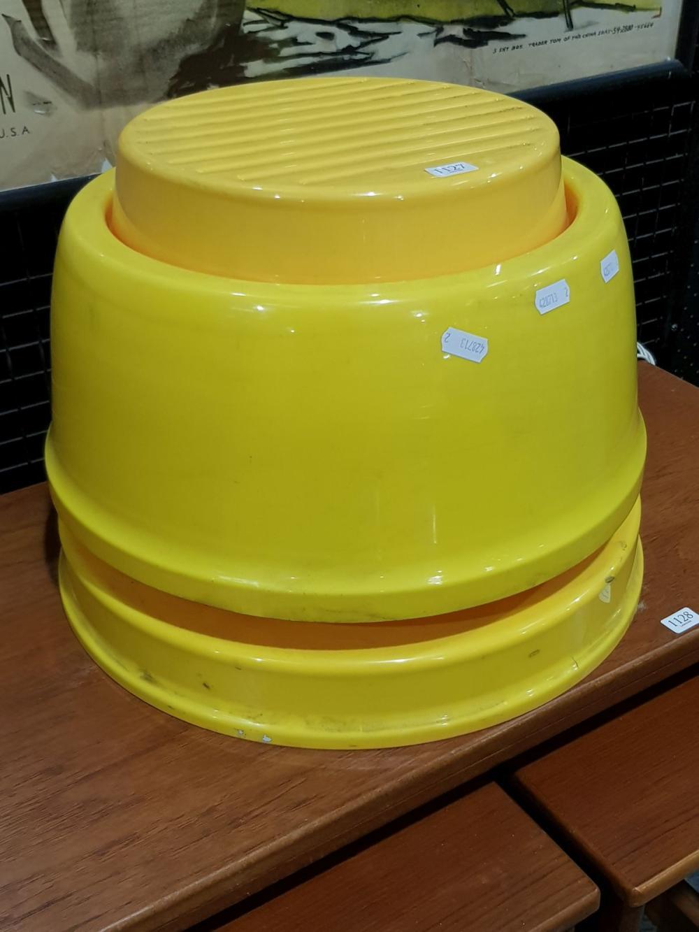 Vintage Yellow Plastic Table Lamp
