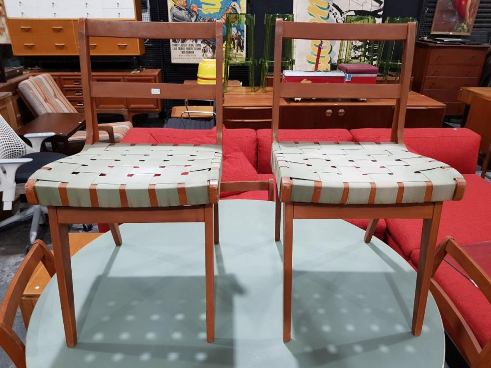 Set of 6 Douglas Snelling Dining Chairs with Webbed Seats