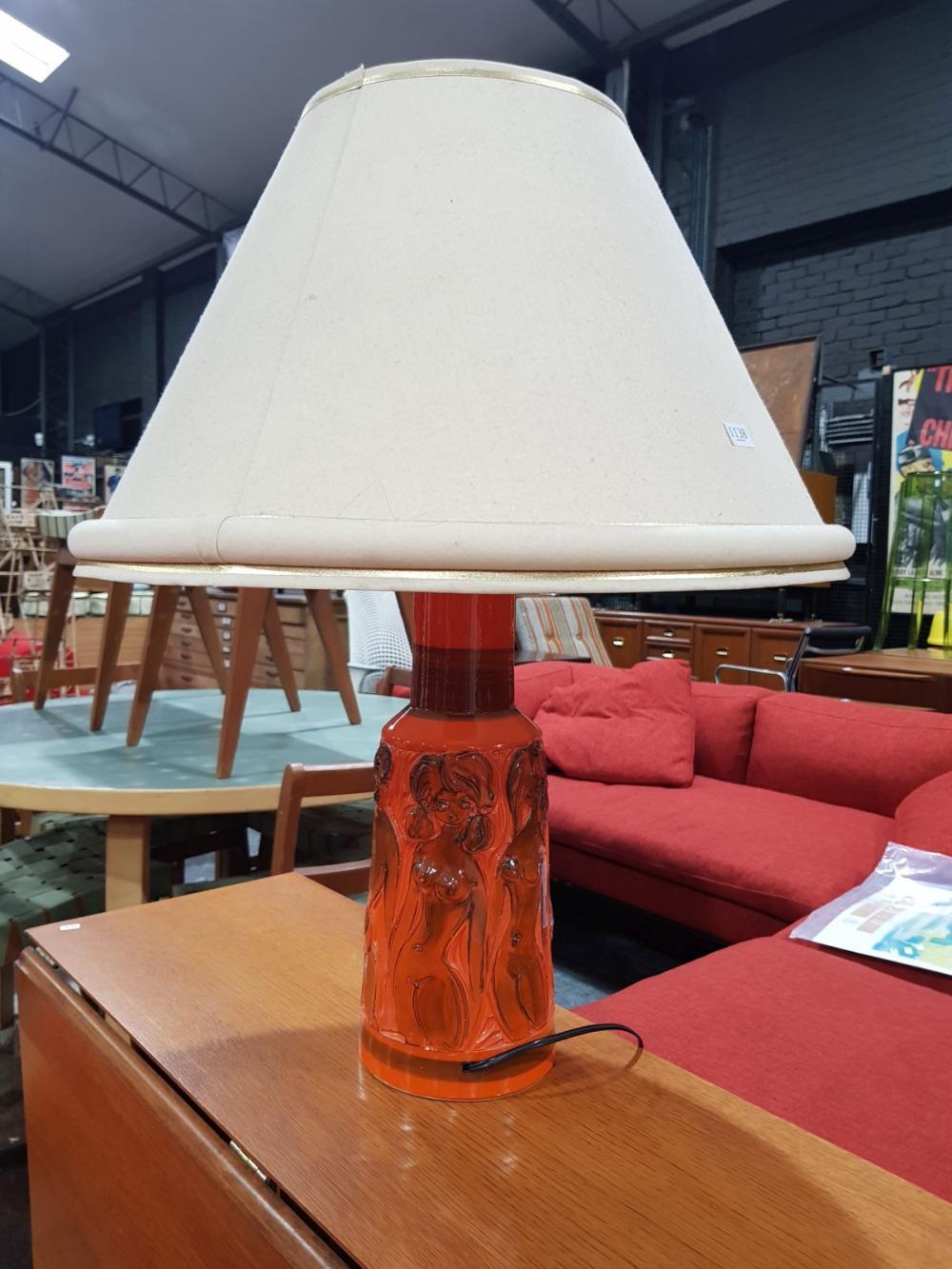 Italian Ceramic Glazed Table Lamp