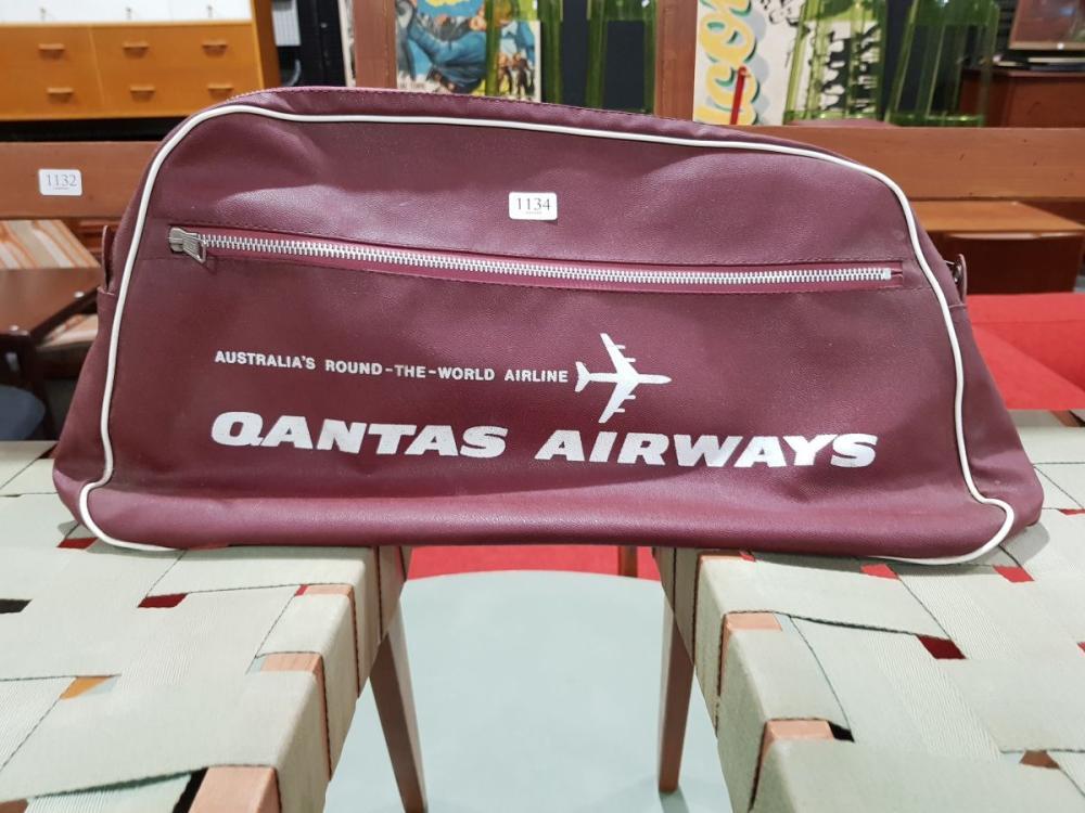 Vintage Qantas Airways Bag