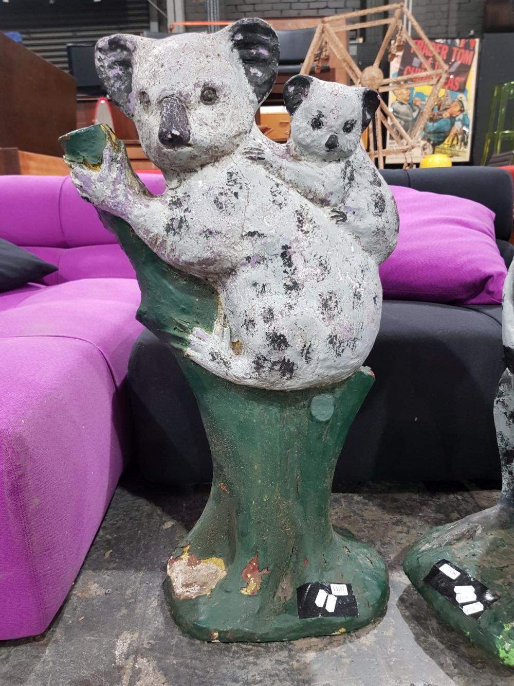 Vintage Concrete Koala Statue