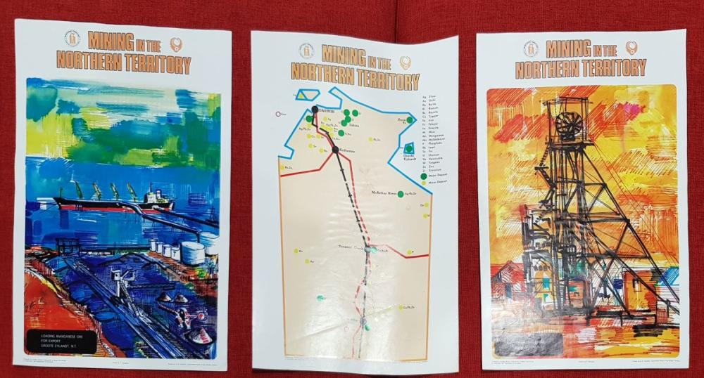 Collection of 3 Early Mining Posters