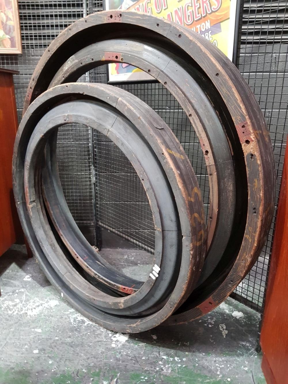 Pair of Large Graduated Industrial Wheel Moulds