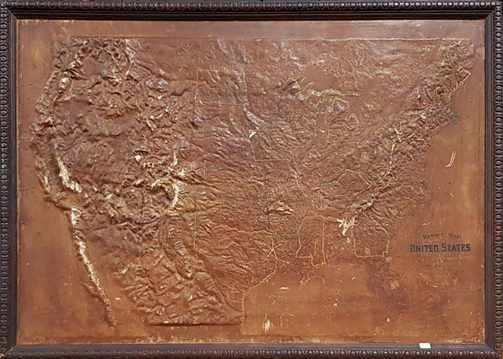 Vintage Topographical Map of North America